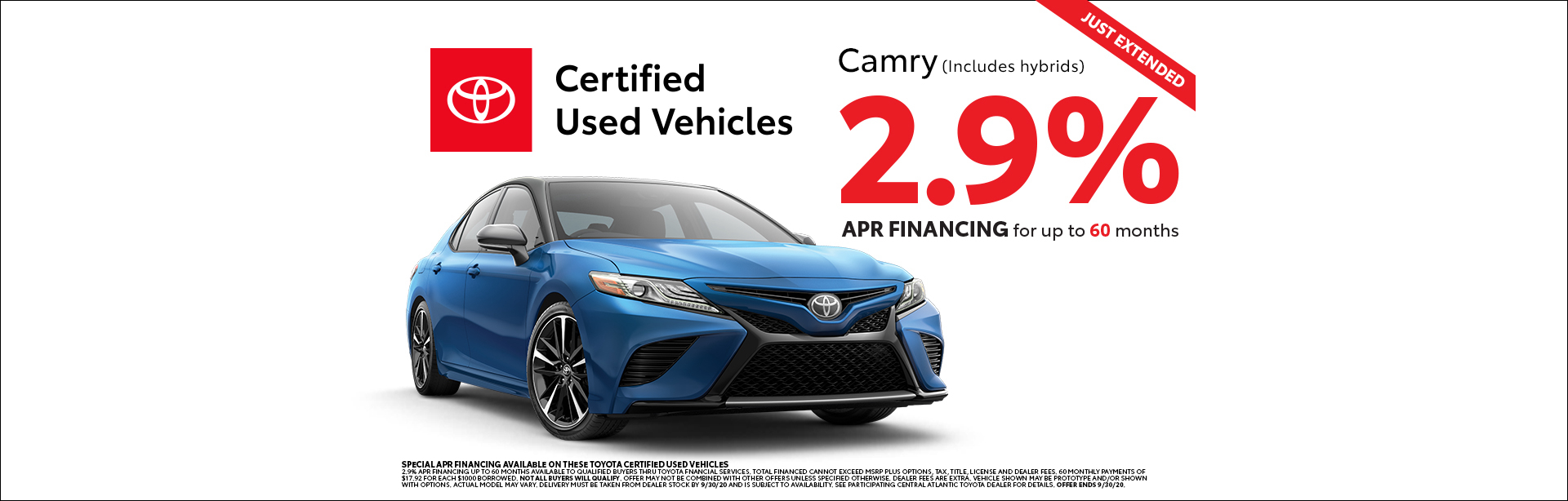 Toyota, Certified Used Vehicles, Camry