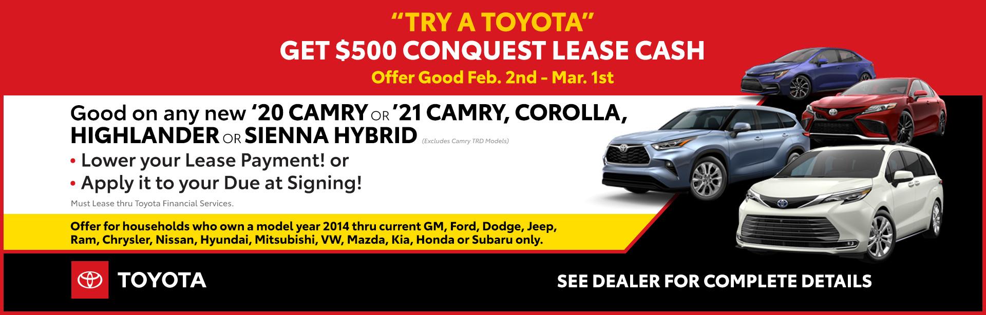 02-21_01_Cincinnati-February-2021-CIN-Conquest-Lease-Cash_1920x614_9511_Camry-Corolla-Highlander-Sienna_O_xta.jpeg